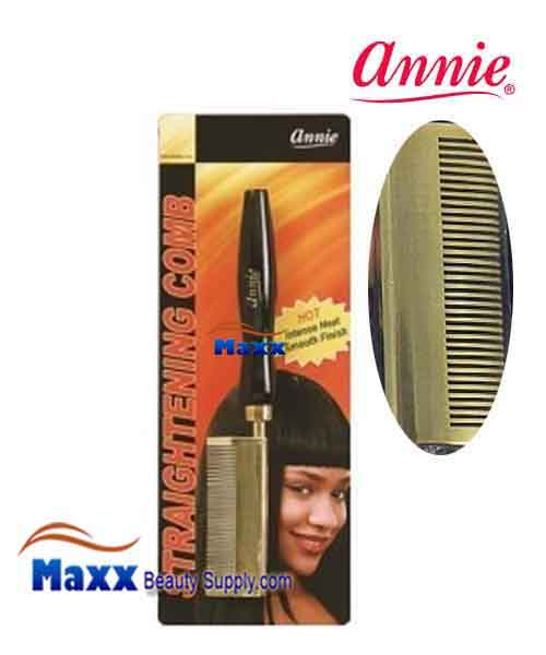 Annie #5503 Straightening Comb - Medium Teeth curved head